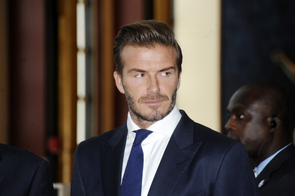 David Beckham, Goodwill Ambassador for the UN Childrens Fund attends the UNICEF event entitled 'Giving Youth a Voice' at the United Nations Headquarters on September 24, 2015 in New York City, USA. Featuring: David Beckham Where: New York, New York, United States When: 24 Sep 2015 Credit: Dennis Van Tine/Future Image/WENN.com **Not available for publication in Germany, Poland, Russia, Hungary, Slovenia, Czech Republic, Serbia, Croatia, Slovakia**