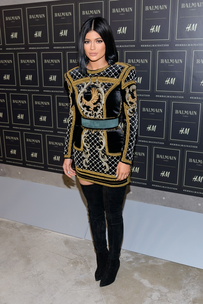 Red carpet arrivals at the Balmain x H&M collection launch Featuring: Kylie Jenner Where: New York, New York, United States When: 20 Oct 2015 Credit: C.Smith/ WENN.com