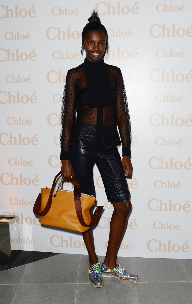 """LONDON, ENGLAND - OCTOBER 17: Leomie Anderson attends a cocktail party to celebrate the Launch of the Book """"Chloe Attitudes"""" hosted by Sarah Mower and Marc Ascoli at Freer and Sackler Gallery on October 17, 2013 in London, England. (Photo by David M. Benett/Getty Images for Chloe)"""