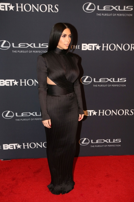Kim Kardashian attends The 2015 BET Honors Awards at Warner Theatre on January 24, 2015, in Washington, DC. (Photo by Johnny Nunez/WireImage)