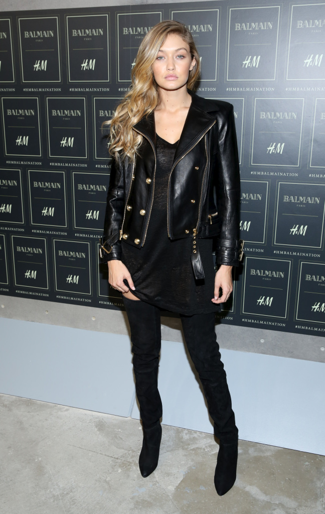 The BALMAIN X H&M Collection Launch at 23 Wall Street Featuring: Gigi Hadid Where: New York, New York, United States When: 20 Oct 2015 Credit: Andres Otero/WENN.com