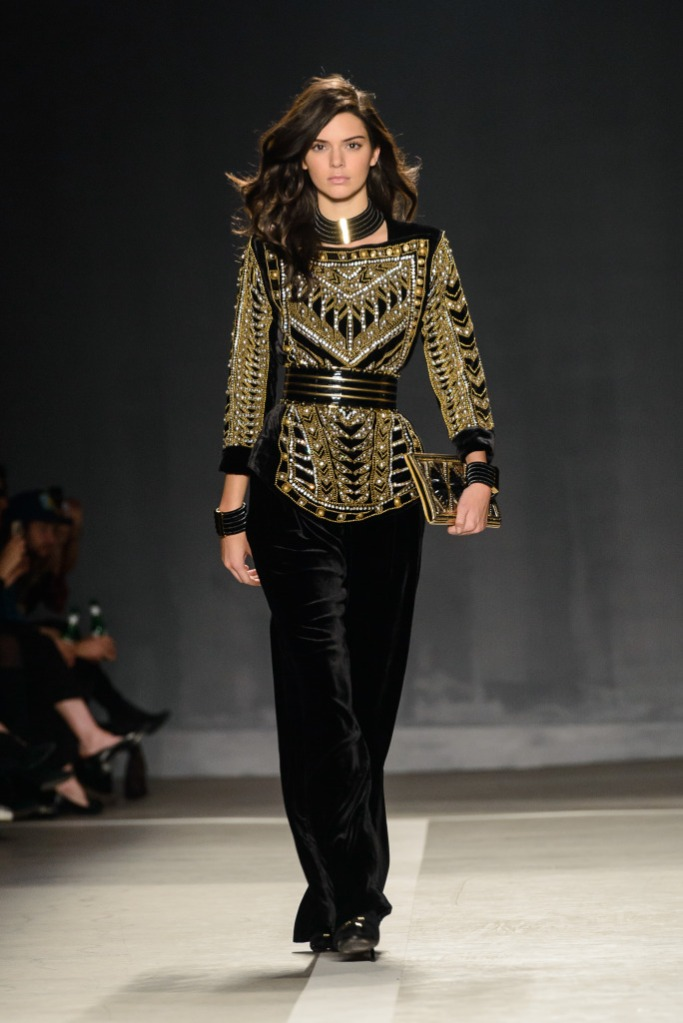 Balmain x H&M collection launchat 23 Wall St in Manhattan Featuring: Kendall Jenner Where: New York, New York, United States When: 21 Oct 2015 Credit: C.Smith/ WENN.com