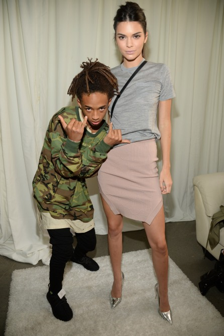 NEW YORK, NY - SEPTEMBER 16: Jaden Smith and Kendall Jenner attend Kanye West Yeezy Season 2 during New York Fashion Week at Skylight Modern on September 16, 2015 in New York City. (Photo by Kevin Mazur/Getty Images for Kanye West Yeezy)