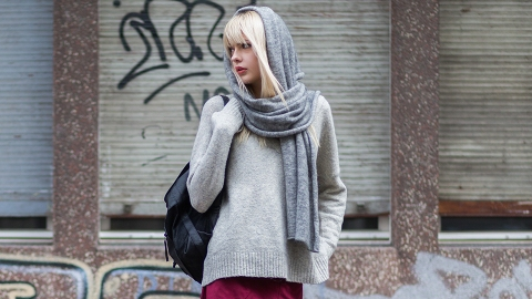 How to Tie a Cashmere Scarf | StyleCaster