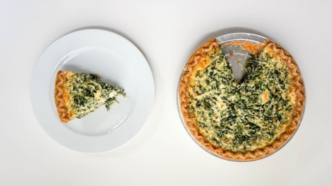 Brunch for a Crowd: This Spinach and Feta Quiche | StyleCaster