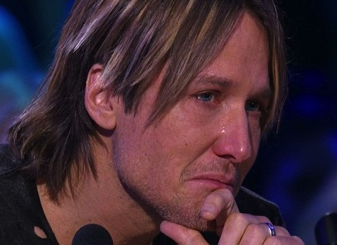 Keith Urban crying on American Idol