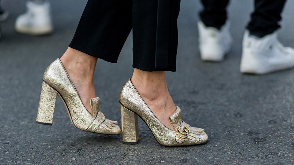 Fine, Gucci, I Give in: I Need Metallic Loafers