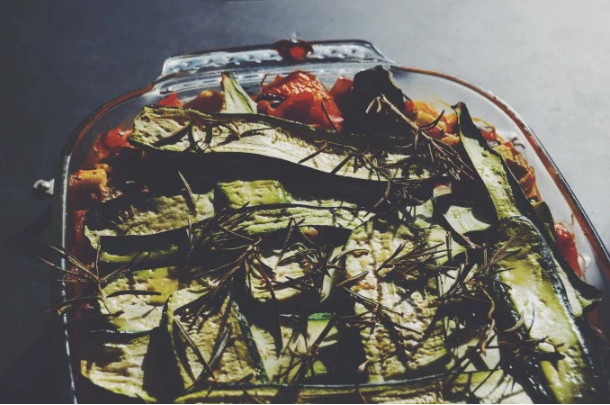 vegan polenta bake This Healthy One Dish Meal Is Here to Solve Your Weeknight Dinner Problems