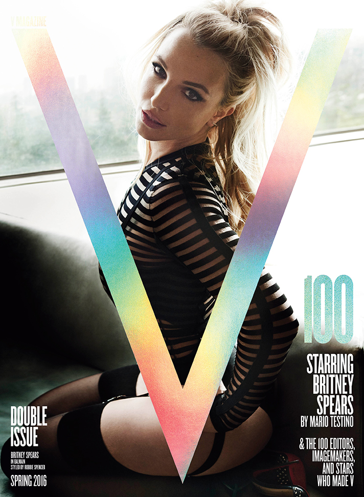 britney spears v magazine cover Britney Spears Looks Really, Really Hot on the Cover of V Magazine #100