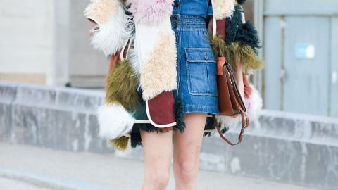 25 Street-Style-Approved Ways to Wear a Denim Skirt   StyleCaster