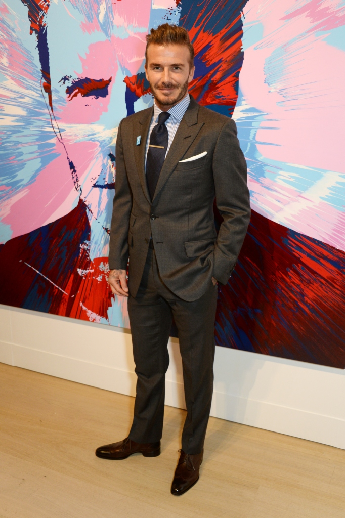 attends a gala auction of original signed photographs and newly commissioned works in Support of '7: The David Beckham Unicef Fund' and 'Positive View Foundation' at Phillips Gallery on March 10, 2016 in London, England.