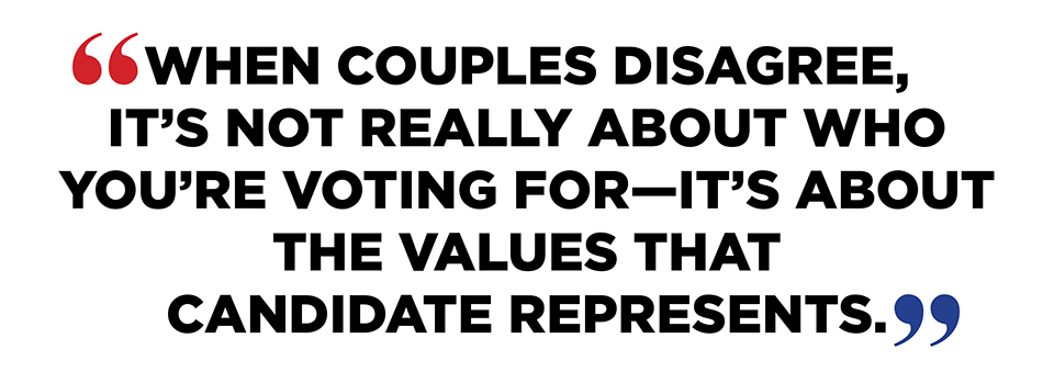 quote 01 Youre Voting for Hillary, Hes Supporting Trump: Should You Just Break Up Now?