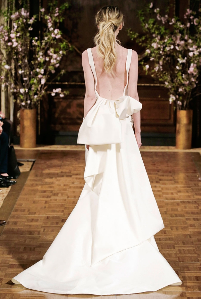 bridal fashion week trends spring 2017 backs isabelle armstrong1 8 Real Brides Spill Their Smart, Sane Pre Wedding Diet Tips