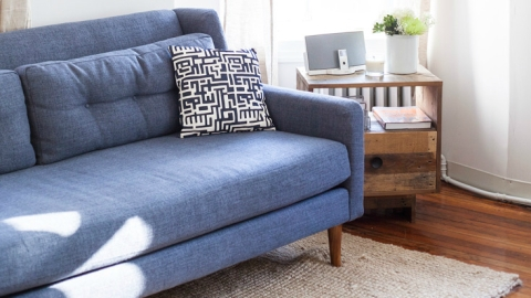 10 Cool Ways to Use Denim in Your Apartment  | StyleCaster