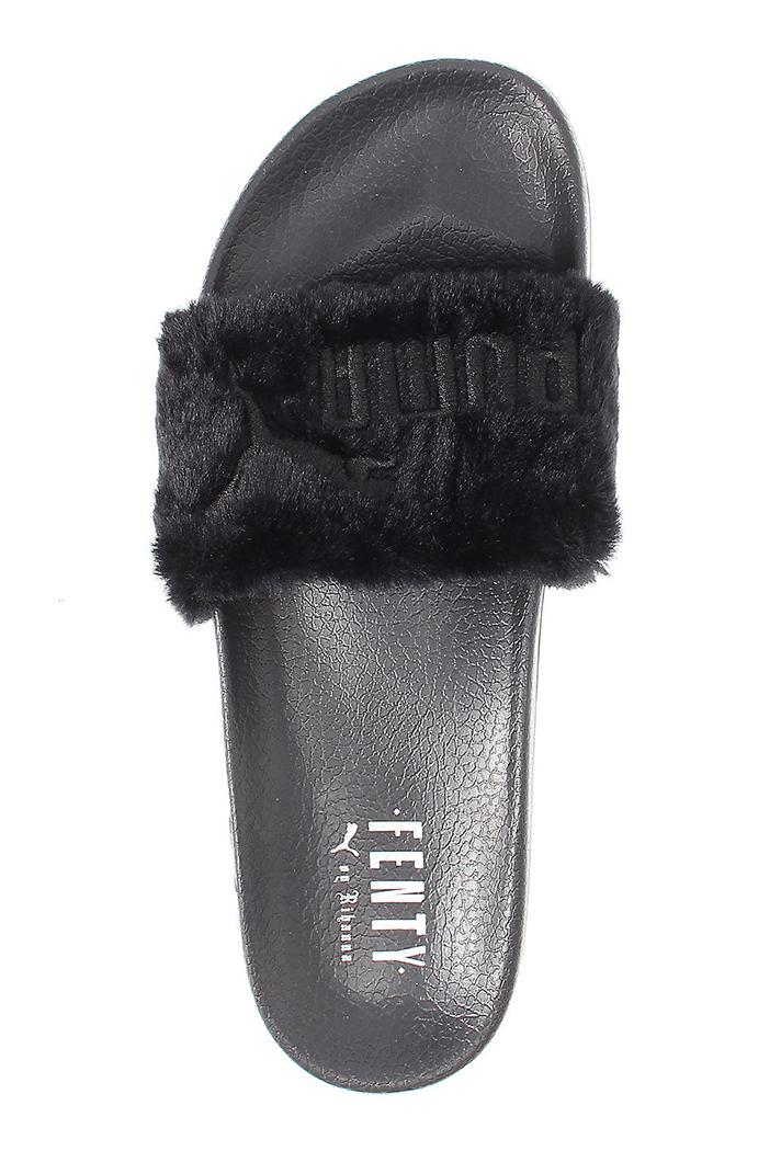 Rihanna's Fur Fenty x Puma Slides Are