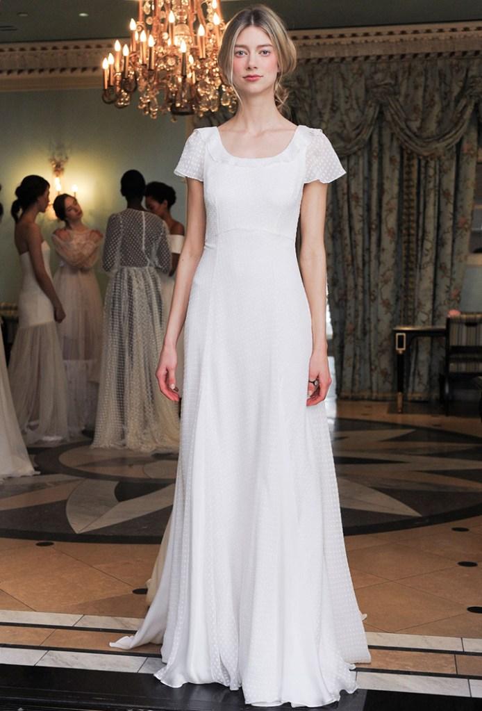 simple wedding dresses delphine manivet 011 8 Real Brides Spill Their Smart, Sane Pre Wedding Diet Tips