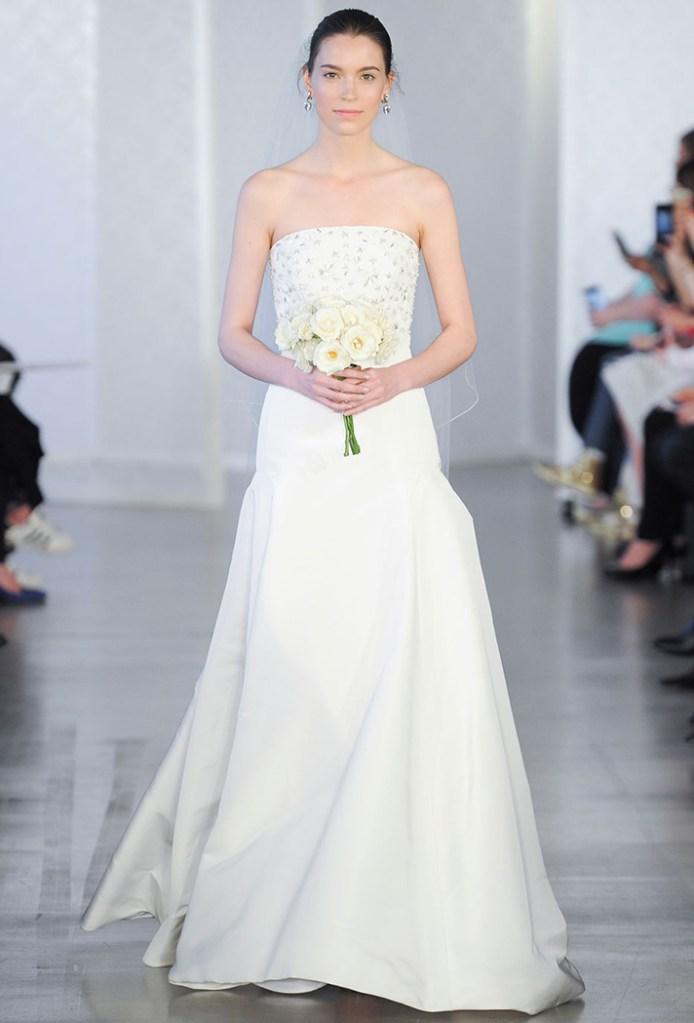 simple wedding dresses oscar de la renta 031 8 Real Brides Spill Their Smart, Sane Pre Wedding Diet Tips