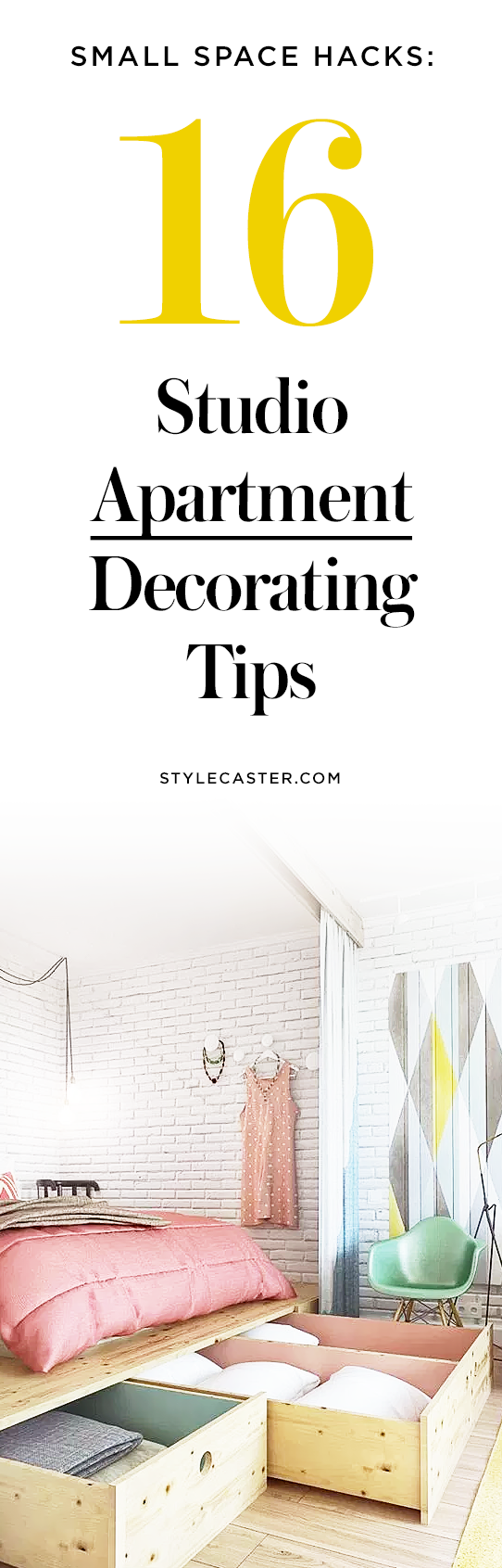 16 Studio Apartment Decorating Tips to Transform Your Small Space | @stylecaster