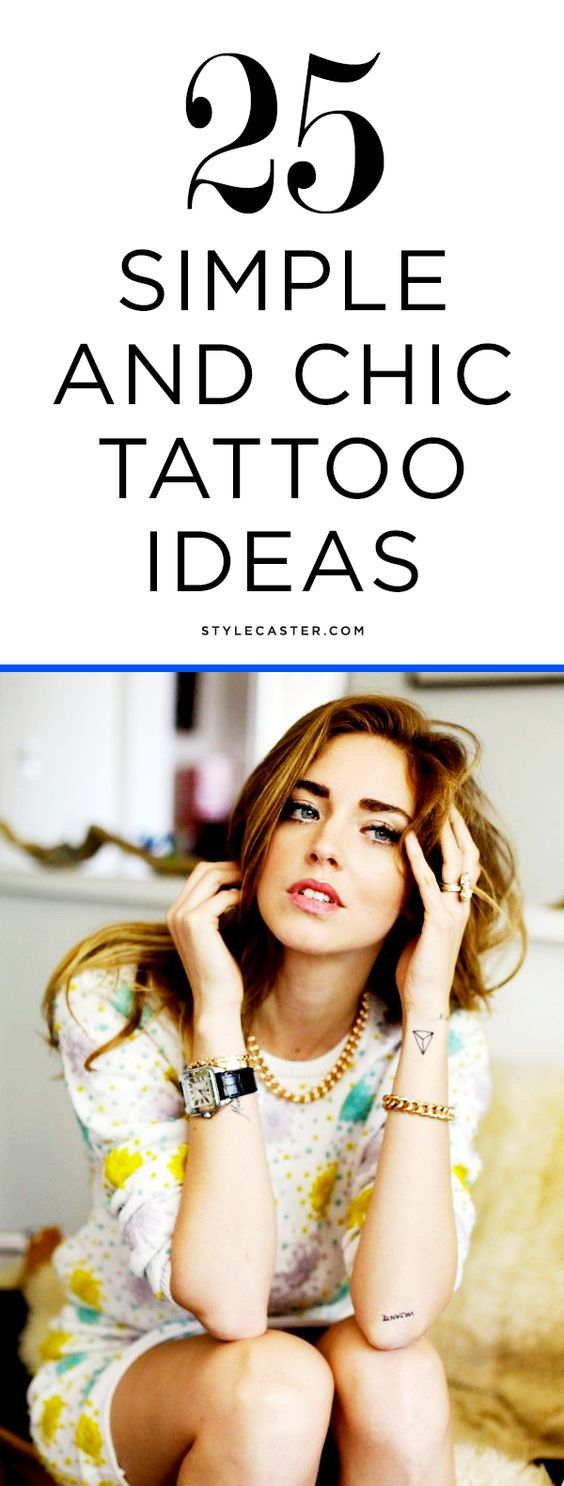 Simple and chic tattoo ideas for minimalists | @stylecaster
