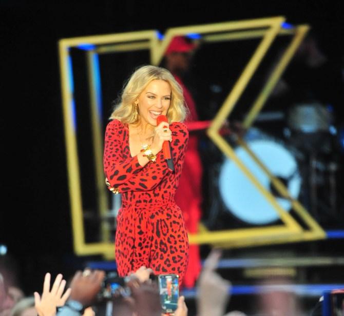 Kylie Minogue performs at Jockey club live at Haydock races. Featuring: Kylie Minogue Where: Merseyside, United Kingdom When: 20 Jun 2015 Credit: Tim Edwards/WENN.com