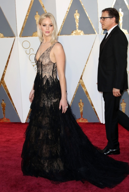 Celebrities attend 88th Annual Academy Awards at Hollywood & Highland Center in Hollywood. Featuring: Jennifer Lawrence Where: Los Angeles, California, United States When: 28 Feb 2016 Credit: Brian To/WENN.com