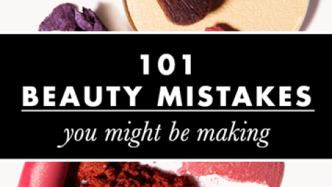 101 Common Beauty Mistakes You Might Be Making | StyleCaster