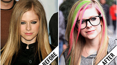The Makeover Poll: Avril Lavigne's Neon Streaks | StyleCaster