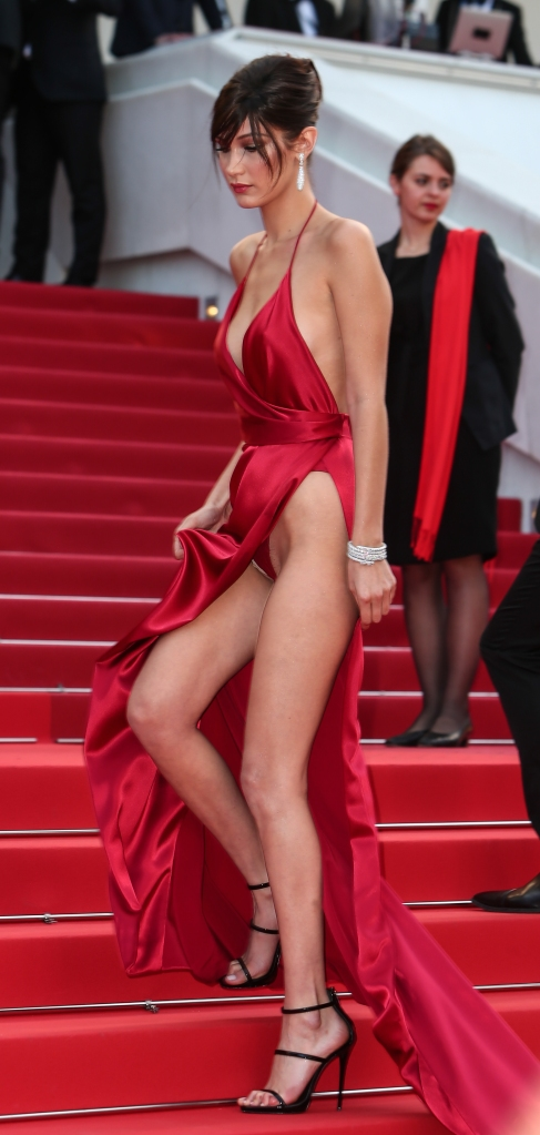 bella hadid 1 Bella Hadid Takes the Naked Dress to New Heights on the Cannes Red Carpet