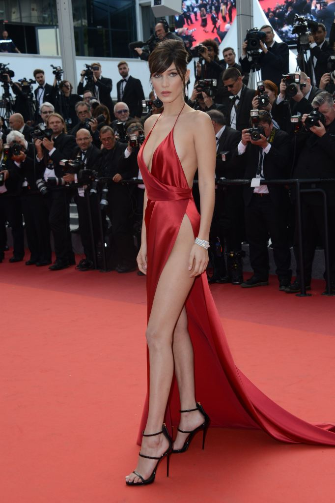 bella hadid 2 Bella Hadid Takes the Naked Dress to New Heights on the Cannes Red Carpet