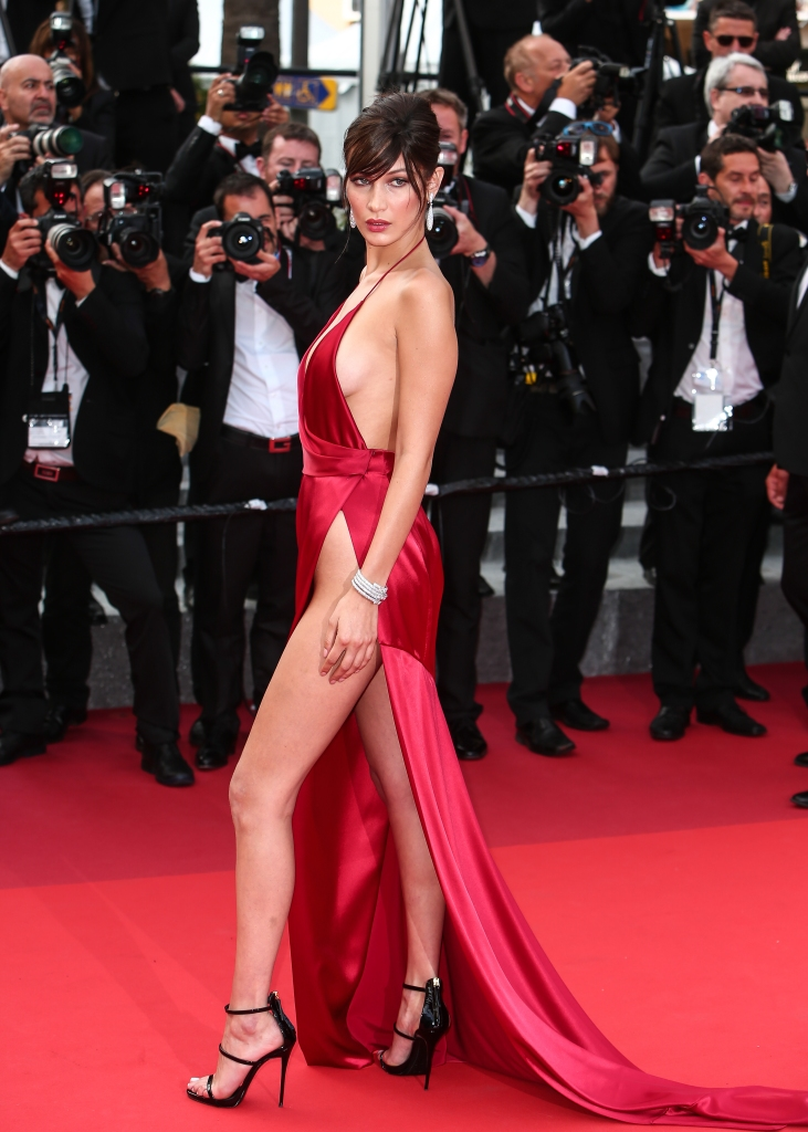 bella hadid Bella Hadid Takes the Naked Dress to New Heights on the Cannes Red Carpet