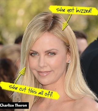Charlize Theron Did What To Her Hair Stylecaster