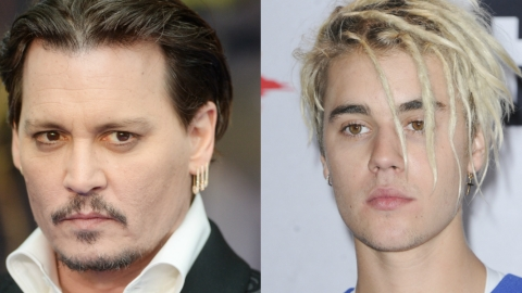 Um, Justin Bieber and Johnny Depp Were Exact Lookalikes as Kids   StyleCaster