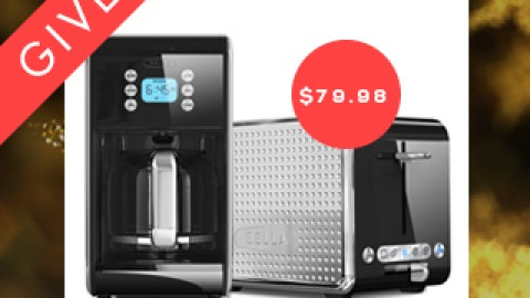 Today's Giveaway! Enter to Win a Sleek Coffee Maker and Toaster from Bella | StyleCaster