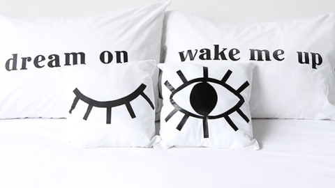How to DIY Screen-Printed Pillows That Are Made for Instagram | StyleCaster