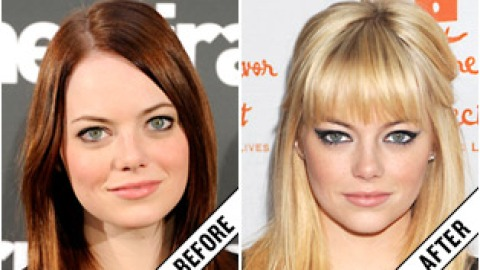 The Makeover Poll: Emma Stone's Blonde Bangs | StyleCaster