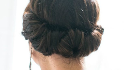 Learn To Do This Twisted Updo! | StyleCaster