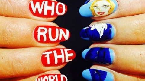 News: When Hillary Clinton Meets Nail Art | StyleCaster