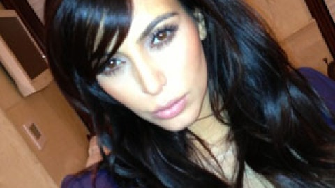 """Kim Kardashian Cut Her Bangs """"For Real"""" This Time 