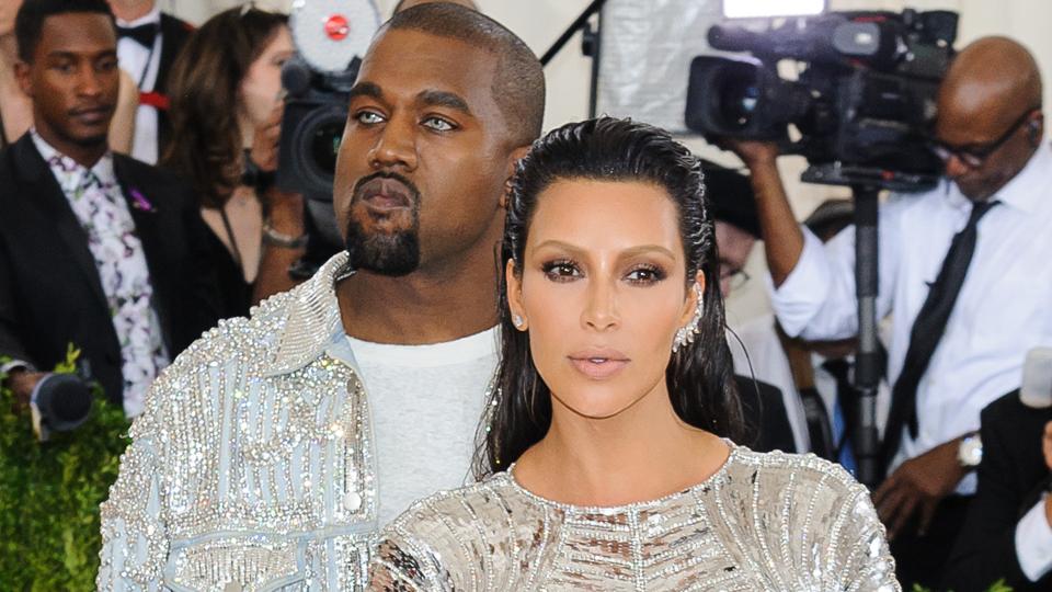 kanye west kim kardashian1 Both Kim Kardashian and Karlie Kloss Cut Up Their Met Gala Dresses