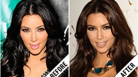 The Makeover Poll: Kim Kardashian's Lighter Locks | StyleCaster