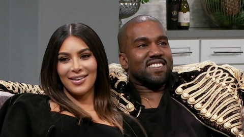 The Curious Case of Kim and Kanye's Matching Jeans   StyleCaster