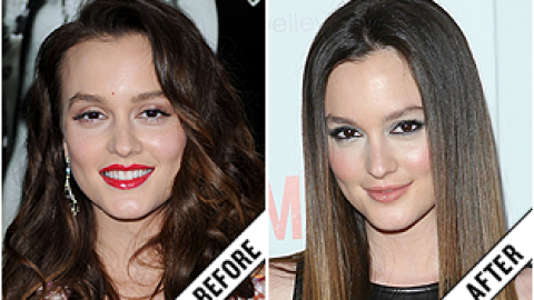 The Makeover Poll: Leighton Meester's Sleek Hairstyle | StyleCaster