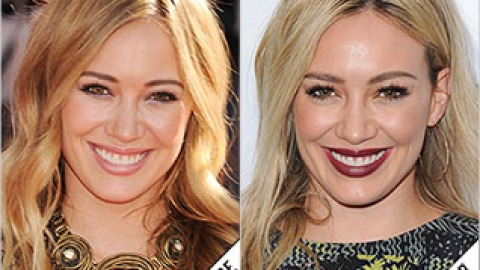 The Makeover Poll: Hilary Duff's Dark Lipstick Look | StyleCaster