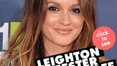 Whoa! Leighton Meester Chopped Off All Her Hair | StyleCaster
