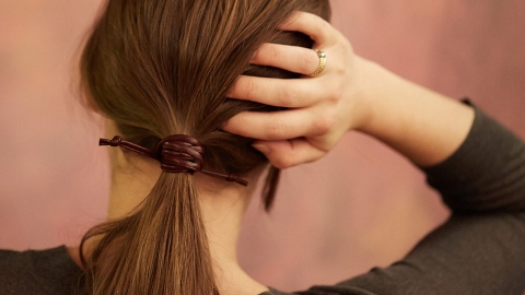 Weekend Project: This DIY Faux-Leather Ponytail | StyleCaster