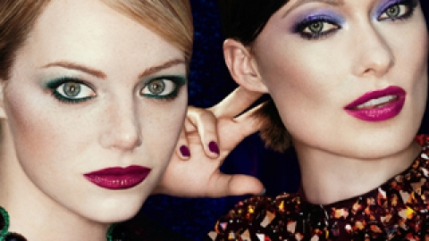Emma Stone and Olivia Wilde Team Up for New Revlon Ad   StyleCaster