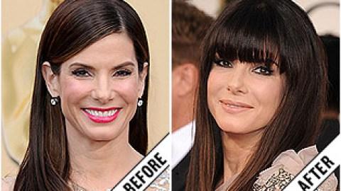 The Makeover Poll: Sandra Bullock's Blunt Bangs   StyleCaster