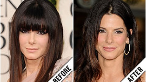 The Makeover Poll: Sandra Bullock Ditches Her Bangs | StyleCaster