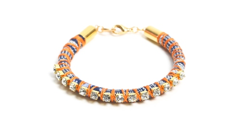 How to DIY a Rhinestone Friendship Bracelet You'll Want to Keep for Yourself | StyleCaster