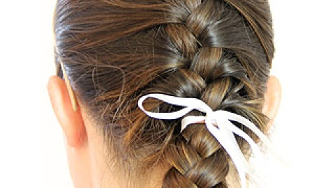 BGRW: Try This Braided Updo For Hot Workouts! | StyleCaster